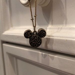 Gold and Black Disney Necklace